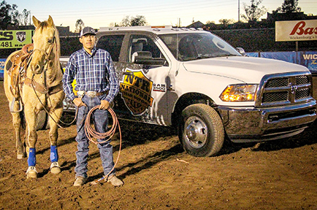 Gishie Wins Truck at NTR Roping