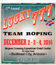 17th Annual Lucky 777 Team Roping