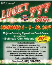 18th Annual Lucky 777 Team Roping